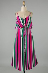 Resort Ready Stripe Midi Dress