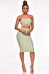 Lucky Charms Strapless Cut Out Dress