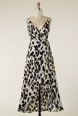 Animal Print High-Low Maxi Dress