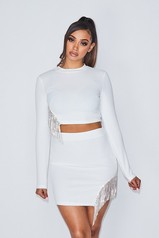 Date With Babe Skirt Set - White