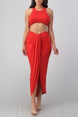 Scarlet Two Piece Skirt Set
